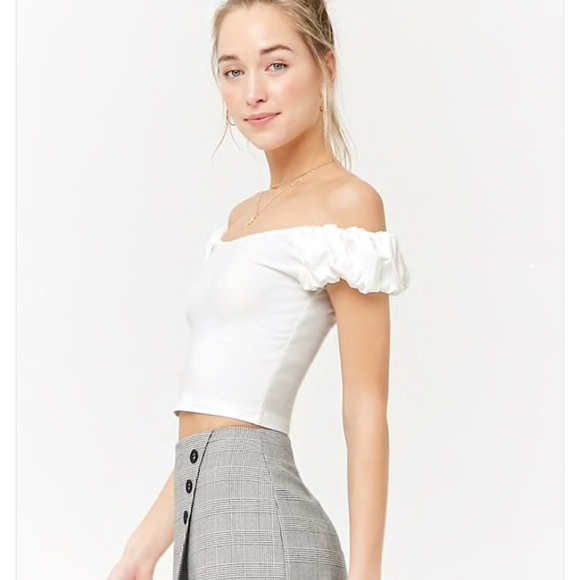 4a2d573122d Forever 21 Tops | Nwt Off Shoulder White Puff Sleeve Top | Poshmark
